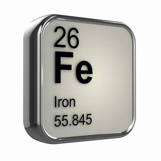 hierro simbolo quimico mineral