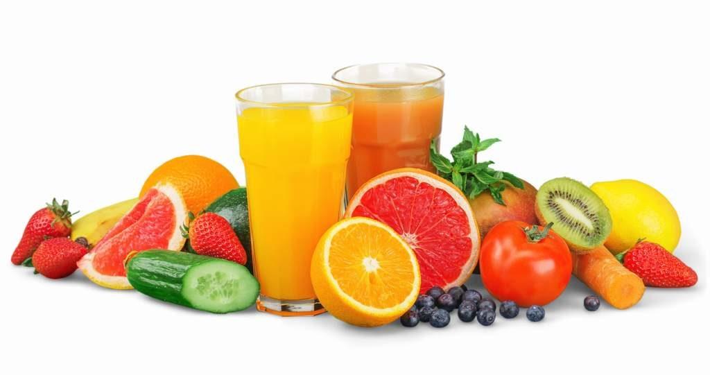 zumos de frutas variadas